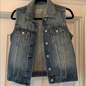 Gap jean jacket vest